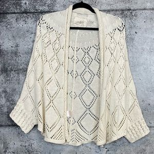 Anthro // Angel of the North // Open Knit Cardigan